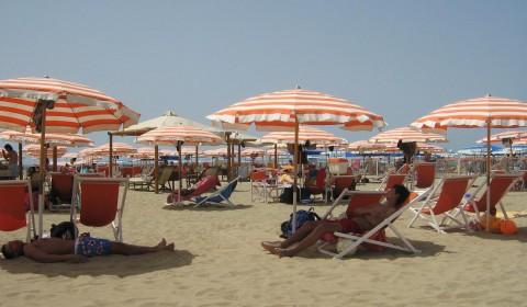 Stranden i Viareggio